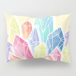 Crystals Yellow Pillow Sham