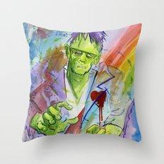 Friend Frankenstein Throw Pillow