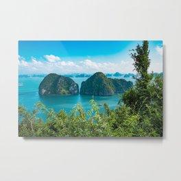 island in lagoon Metal Print