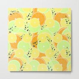 Lemon, Lime and Orange Slices Metal Print