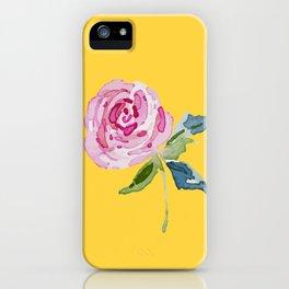 Watercolor Rose iPhone Case