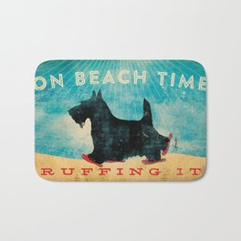 Beach Time Scottie by Stephen Fowler Bath Mat