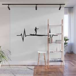 Stand Up Paddling Heartbeat Wall Mural