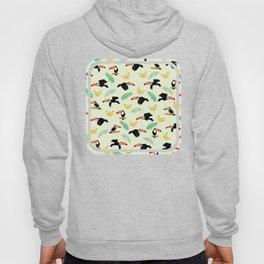Toucan tropical pattern Hoody