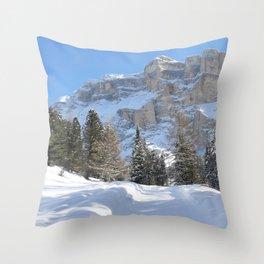 Mountain Dolomiti Throw Pillow