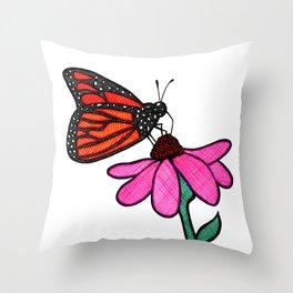 Cross-Hatch Monarch Throw Pillow