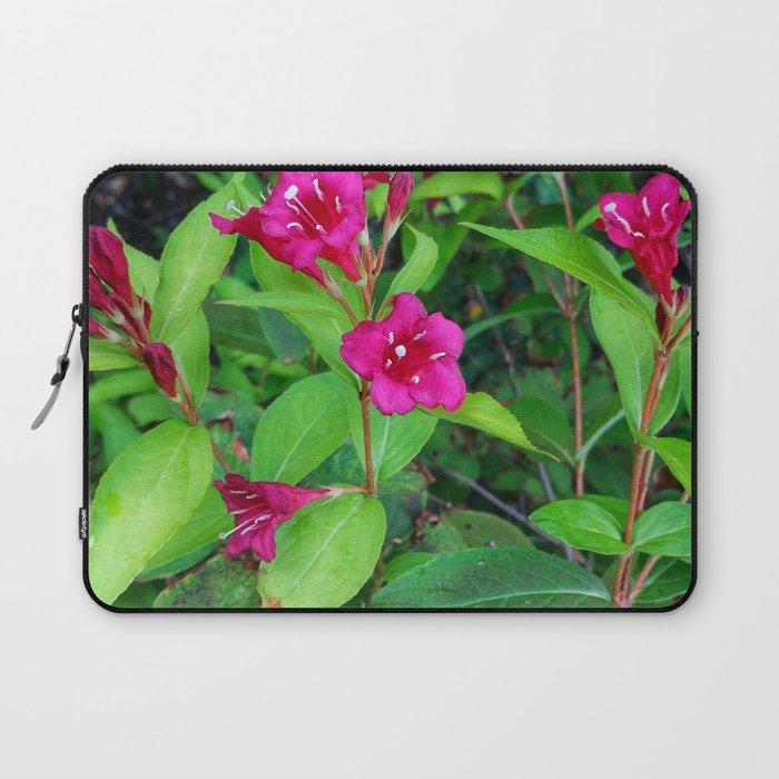 Purple Park Flowers Laptop Sleeve
