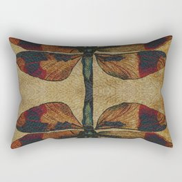 Dragonfly Mirrored on Leather Rectangular Pillow