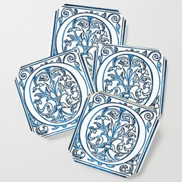 Letter O Antique Floral Letterpress Coaster