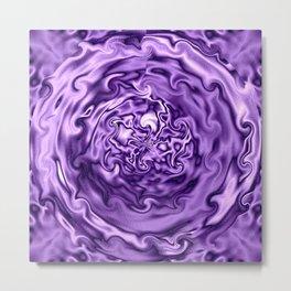 Purple Swirl Topography Metal Print