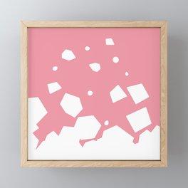 Rockery on Pink Framed Mini Art Print