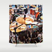 sale Shower Curtains featuring Music Sale by Andooga Design