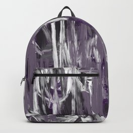 Grayed Purple Abstract Backpack