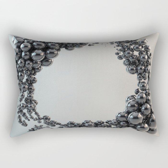 Black bubble Rectangular Pillow