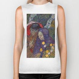 """Vincent van Gogh """"Memory of the Garden at Etten (Ladies of Arles) i"""" Biker Tank"""
