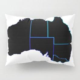 Australia States In Silhouette Pillow Sham
