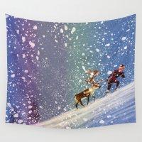 frozen Wall Tapestries featuring Frozen by David Pavon