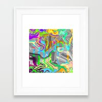 trippy Framed Art Prints featuring Trippy by Calepotts