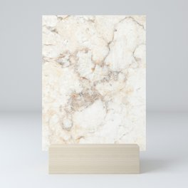 Marble Natural Stone Grey Veining Quartz Mini Art Print