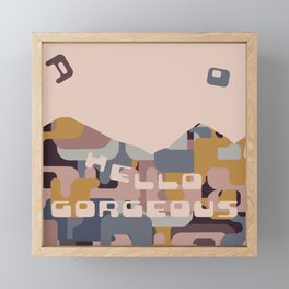 Falling Into Place Framed Mini Art Print