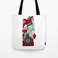 the joker Tote Bags featuring JOKER by taniavisual