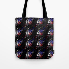 Stars and Stripes Pattern Tote Bag