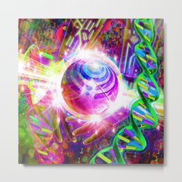 Harnessing the Power of Bass (Bassnectar Art) Metal Print