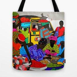 african market 1 Tote Bag