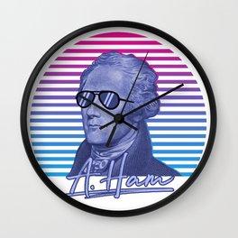 Vintage Retro Alexander Hamilton Musical Funny Patriotic Gift Wall Clock