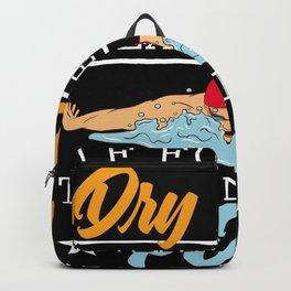 Dry Land Swimming Pool Googles Design Backpack