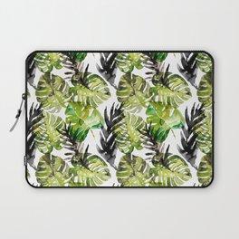 Watercolor monstera areca leaves illustration Laptop Sleeve