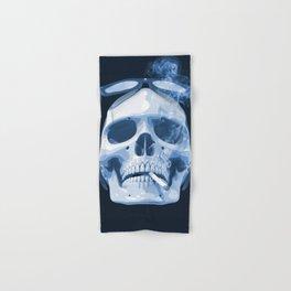 Skull Smoking Cigarette Blue Hand & Bath Towel