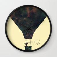 voyage Wall Clocks featuring Voyage by M. Vander