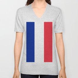France / French Flag / Drapeau Unisex V-Neck