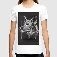 german shepherd T-shirts featuring German Shepherd by Ashley Anderson