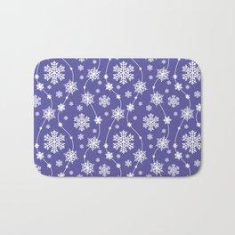 Purple Holiday Snowflake Pattern Bath Mat