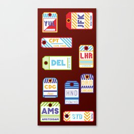 Retro airport ticket Canvas Print
