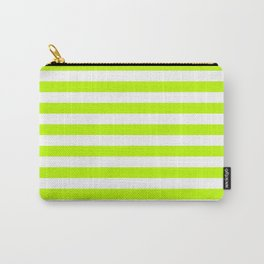 Horizontal Stripes (Lime/White) Carry-All Pouch