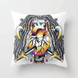 Aquarius - Eleventh of the Zodiac Throw Pillow