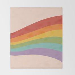 Rainbow Stripes 4 Throw Blanket