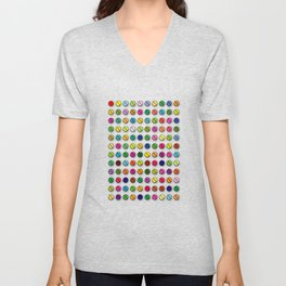 Multi-coloured Pills Pattern square Unisex V-Neck