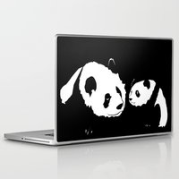 pandas Laptop & iPad Skins featuring Pandas by Elena Medero