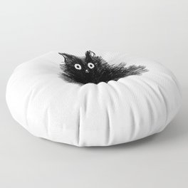 Duster - Black Cat Drawing Floor Pillow