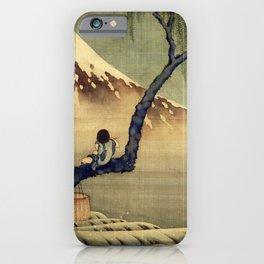 Katsushika Hokusai Boy Viewing Mount Fuji iPhone Case
