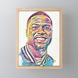 Kevin Hart Abstract Portrait Framed Mini Art Print