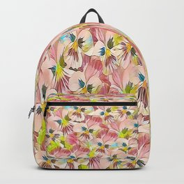 Abundance Of Pink Pansies Backpack