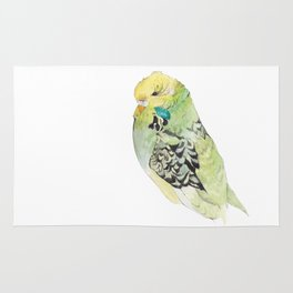 Rocky the budgie Rug