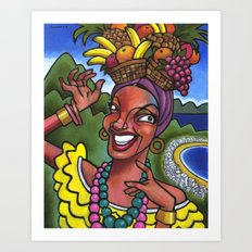 That Girl from Rio (Carmen Miranda) Art Print