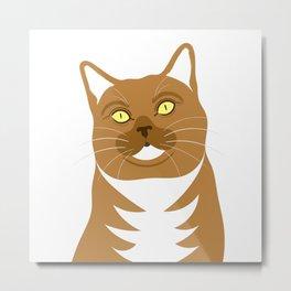 Tabby Cat Portrait Metal Print