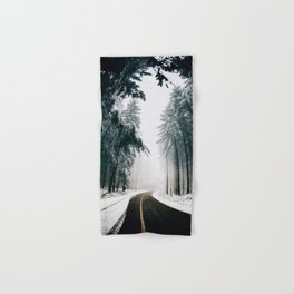 Winding Winter Roads Hand & Bath Towel